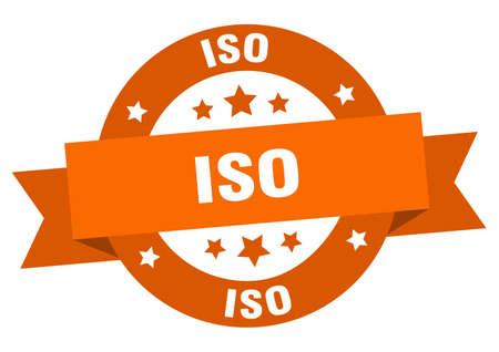 iso round ribbon isolated label. iso sign Illustration