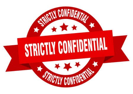 strictly confidential round ribbon isolated label. strictly confidential sign
