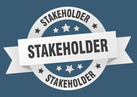 stakeholder round ribbon isolated label. stakeholder sign Illustration