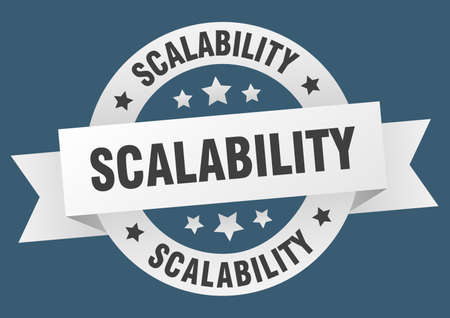 scalability round ribbon isolated label. scalability sign