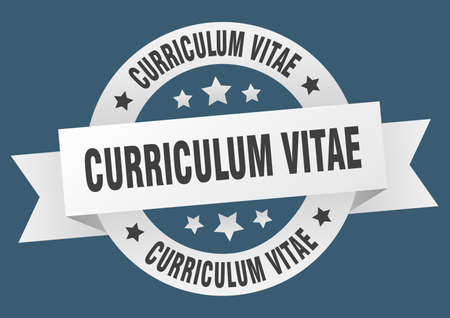 curriculum vitae round ribbon isolated label. curriculum vitae sign