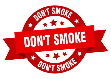 don't smoke round ribbon isolated label. don't smoke sign Vector Illustratie