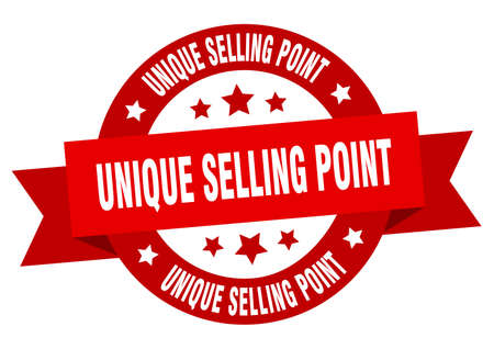 unique selling point round ribbon isolated label. unique selling point sign