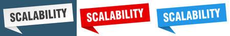 scalability banner sign. scalability speech bubble label set