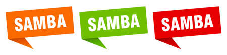 samba banner sign. samba speech bubble label set