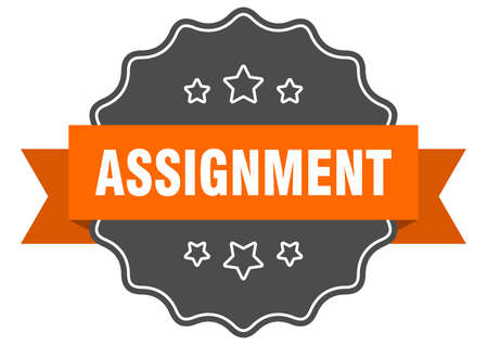 assignment label. assignment isolated seal. Retro sticker sign