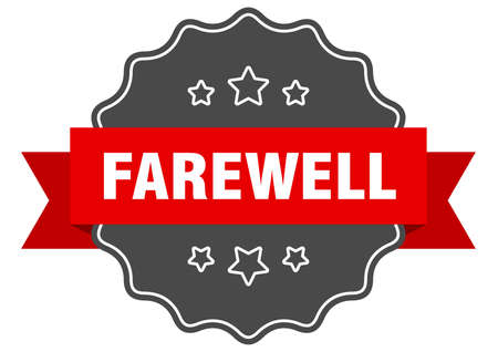 farewell label. farewell isolated seal. Retro sticker sign