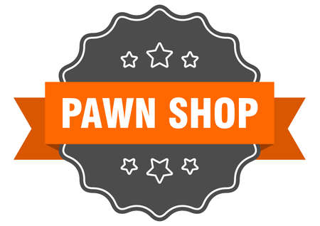 pawn shop label. pawn shop isolated seal. Retro sticker sign