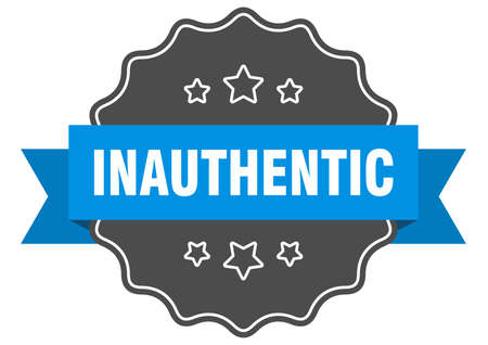 inauthentic label. inauthentic isolated seal. Retro sticker sign