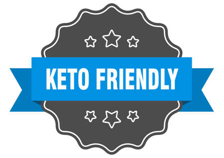 keto friendly label. keto friendly isolated seal. Retro sticker sign