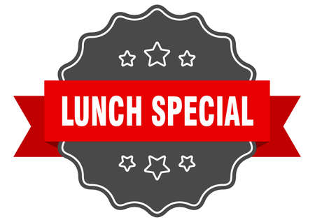 lunch special label. lunch special isolated seal. Retro sticker sign