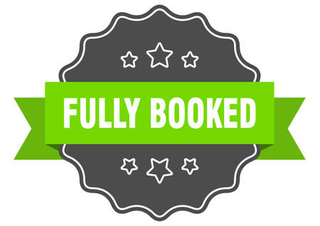 fully booked label. fully booked isolated seal. Retro sticker sign
