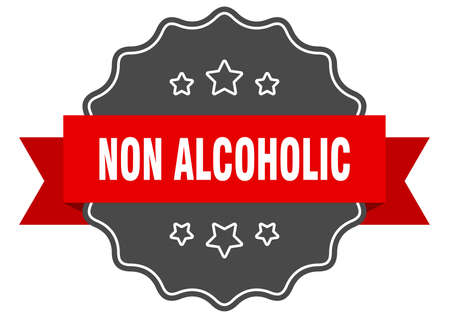 non alcoholic label. non alcoholic isolated seal. Retro sticker sign
