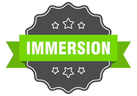 immersion label. immersion isolated seal. Retro sticker sign