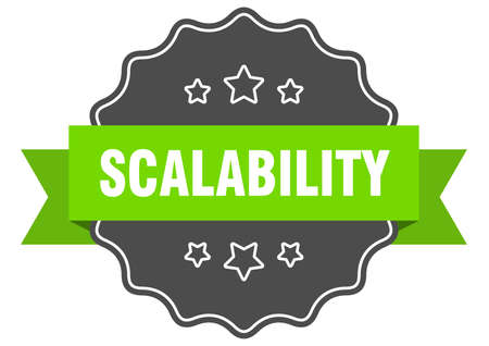 scalability label. scalability isolated seal. Retro sticker sign
