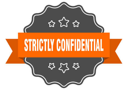 strictly confidential label. strictly confidential isolated seal. Retro sticker sign