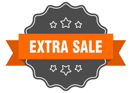 extra sale label. extra sale isolated seal. Retro sticker sign