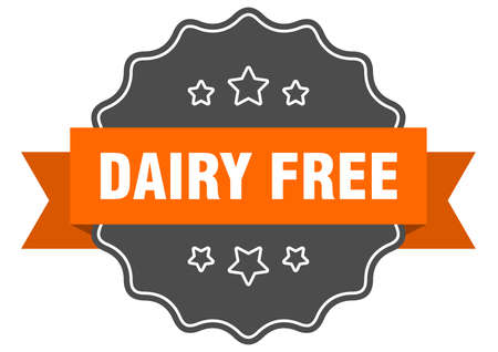dairy free label. dairy free isolated seal. Retro sticker sign