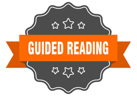 guided reading label. guided reading isolated seal. Retro sticker sign Illusztráció
