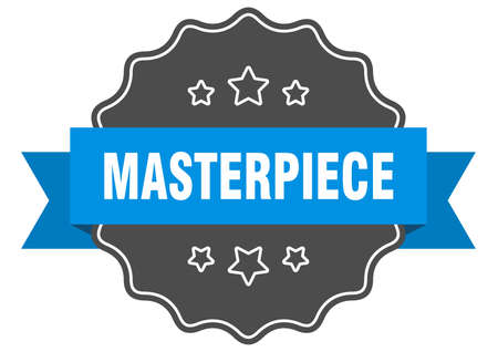 masterpiece label. masterpiece isolated seal. Retro sticker sign