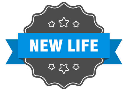 new life label. new life isolated seal. Retro sticker sign Ilustração