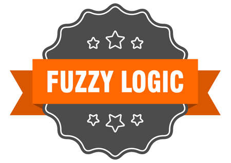 fuzzy logic label. fuzzy logic isolated seal. Retro sticker sign