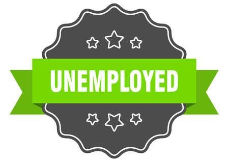 unemployed label. unemployed isolated seal. Retro sticker sign