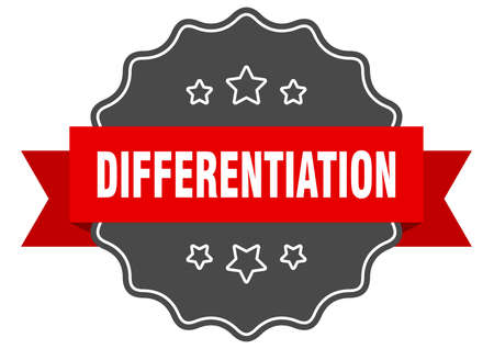 differentiation label. differentiation isolated seal. Retro sticker sign