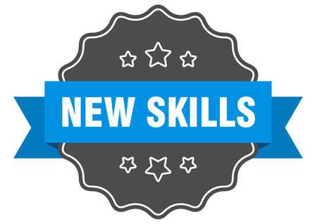 new skills label. new skills isolated seal. Retro sticker sign