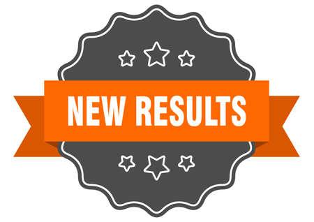 new results label. new results isolated seal. Retro sticker sign Vektorgrafik