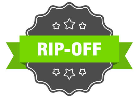 rip-off label. rip-off isolated seal. Retro sticker sign