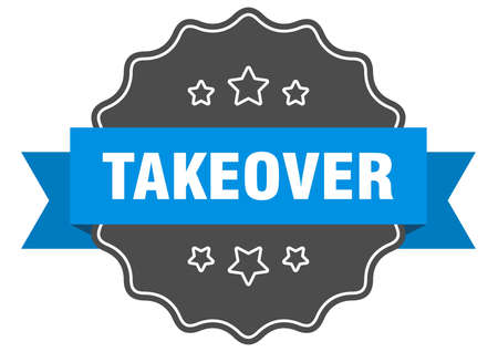 takeover label. takeover isolated seal. Retro sticker sign 向量圖像