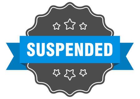 suspended label. suspended isolated seal. Retro sticker sign