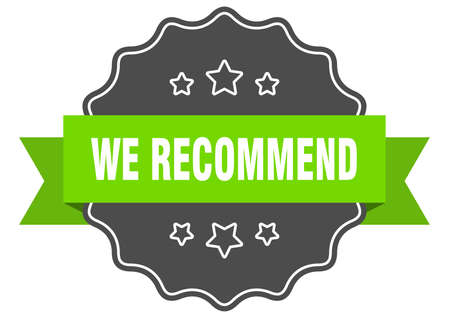 we recommend label. we recommend isolated seal. Retro sticker sign