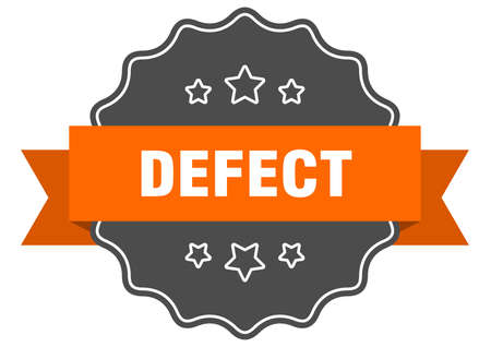 defect label. defect isolated seal. Retro sticker sign