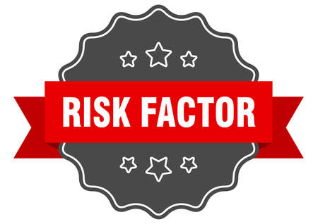risk factor label. risk factor isolated seal. Retro sticker sign