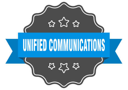 unified communications label. unified communications isolated seal. Retro sticker sign