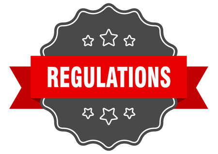 regulations label. regulations isolated seal. Retro sticker sign