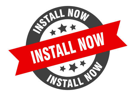 install now sign. round isolated sticker. ribbon tag Stock fotó - 154542546