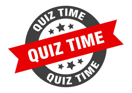 quiz time sign. round isolated sticker. ribbon tag Stock fotó - 154542565
