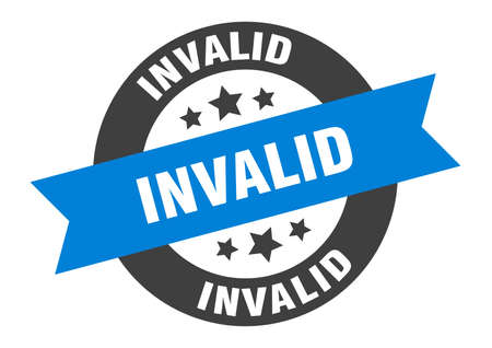 invalid sign. round isolated sticker. ribbon tag Stock fotó - 154542566