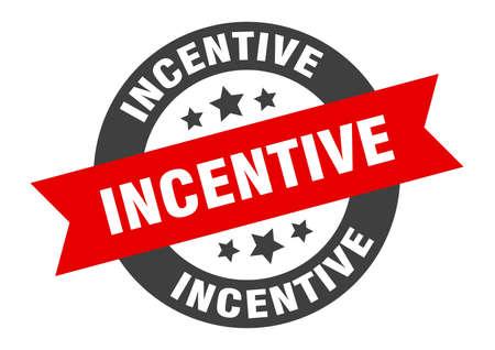 incentive sign. round isolated sticker. ribbon tag Illusztráció