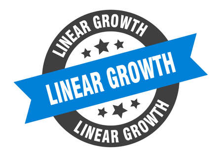 linear growth sign. round isolated sticker. ribbon tag Stock fotó - 154542615