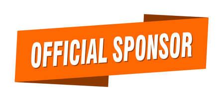 official sponsor banner template. ribbon label sticker. sign Vecteurs