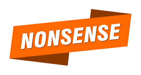 nonsense banner template. ribbon label sticker. sign