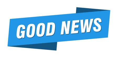good news banner template. ribbon label sticker. sign