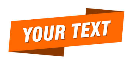 your text banner template. ribbon label sticker. sign Иллюстрация