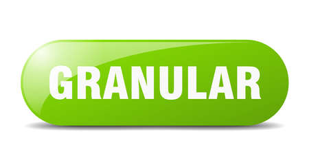 granular button. rounded glass sign. sticker. banner 矢量图像