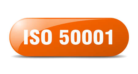 iso 50001 button. rounded glass sign. sticker. banner