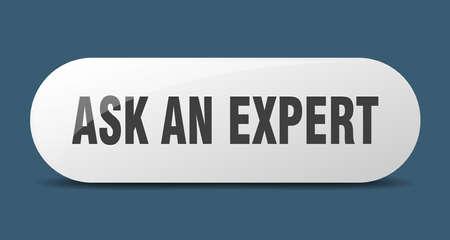 ask an expert button. rounded glass sign. sticker. banner Stock fotó - 155005619